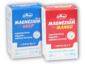 Vitar Magnézium 400mg+vitamín B6+vitamin C 20s