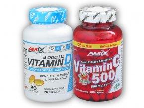 Fitsport Vitamin D3 4000IU 90tob + Vitamin c 500  + šťavnatá tyčinka ZDARMA