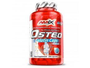 Amix OsteoGelatin + MSM 400 kapslí  + šťavnatá tyčinka ZDARMA