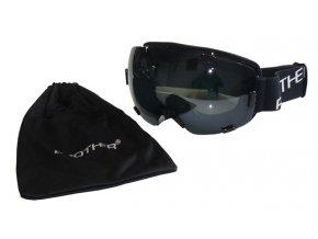 BROTHER B298-CRN Lyžařské brýle,velký zorník,černé  + šťavnatá tyčinka ZDARMA