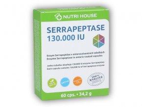 Nutri House Serrapeptase 130.000 IU 60 kapslí  + šťavnatá tyčinka ZDARMA