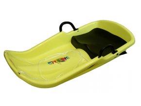 Acra Cyclone plastový bob A2036 - žlutý  + šťavnatá tyčinka ZDARMA