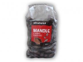 Allnature Mandle v hořké čokoládě 500g