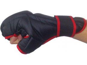 Rukavice Kung-fu PU597 EFFEA velikost L, M, S, XL červeno/černé  + šťavnatá tyčinka ZDARMA