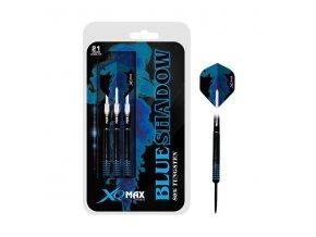 Šipky XQ MAX Steel BLUE SHADOW - 21g  + šťavnatá tyčinka ZDARMA