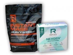 Reflex Nutrition Instant Mass Heavy Weight 5400g + Nexgen 60cp  + šťavnatá tyčinka ZDARMA