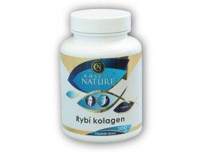 Golden Natur Rybí kolagen + vitamín C 100 kapslí  + šťavnatá tyčinka ZDARMA