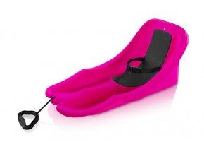 Acra Baby rider bob plastový 05-A2028/1 - růžový  + šťavnatá tyčinka ZDARMA