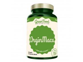 GreenFood Nutrition Argin Maca 60 vegan kapslí