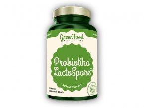 GreenFood Nutrition Probiotika Lactospore 60 vegan kapslí  + šťavnatá tyčinka ZDARMA