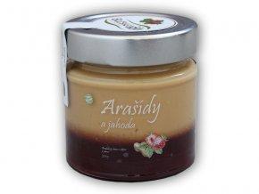Božské oříšky Arašídový krém a džem z jahod 200g