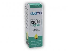 cbdMD CBD Olejová tinktura 750mg 30ml  + šťavnatá tyčinka ZDARMA
