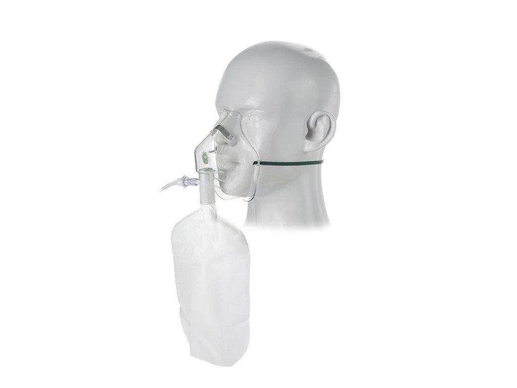 Kyslíková maska pro vysokou koncentraci O2