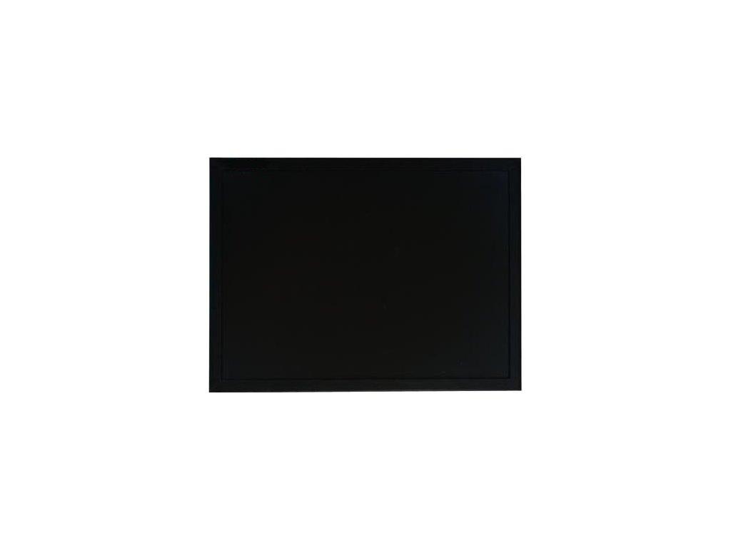 Černá magnetická tabule s dřevěným rámem