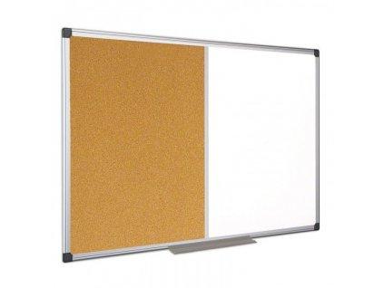 popisovaci magneticka tabule a korkova nastenka 120x90