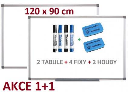 Magnetická bílá tabule Supraviz 1+1 120x90