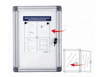Informační vitrína s bílým magnetickým povrchem