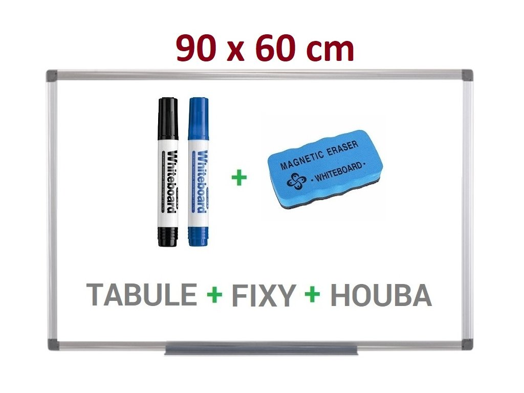Magnetická bílá tabule Supraviz 90x60