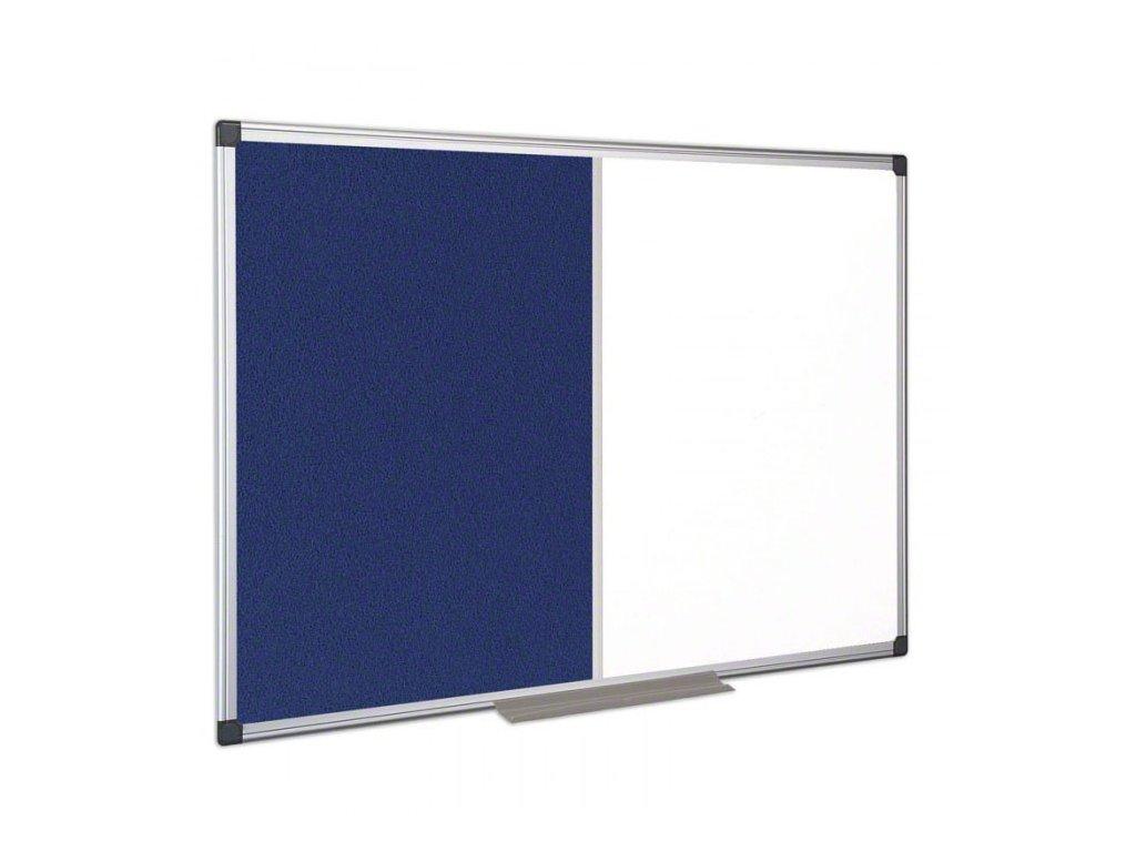 popisovaci magneticka tabule a textilni nastenka 900x600 mm