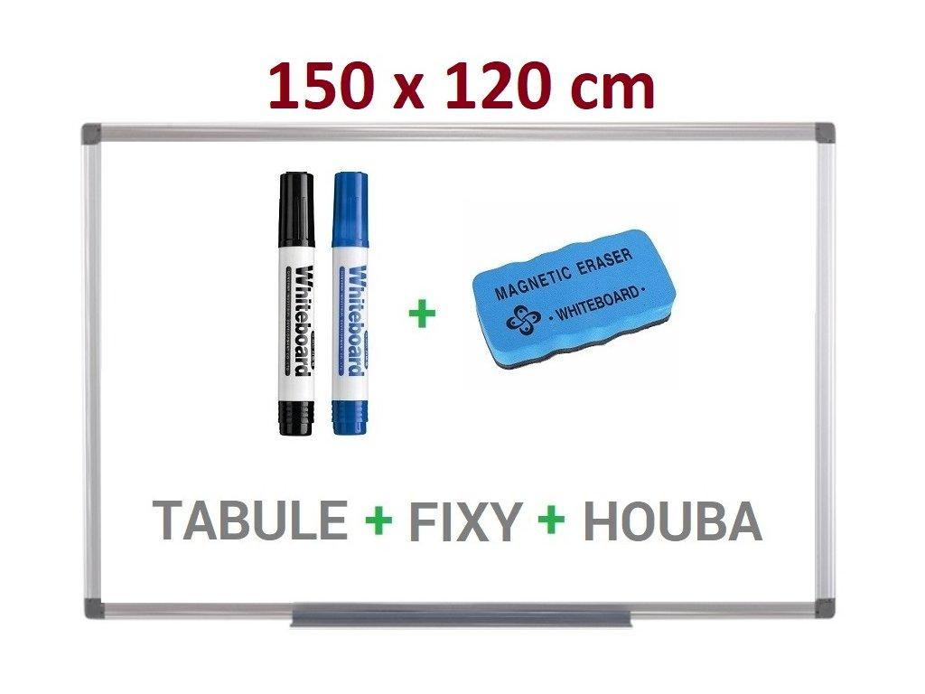 Magnetická bílá tabule Supraviz 150x120