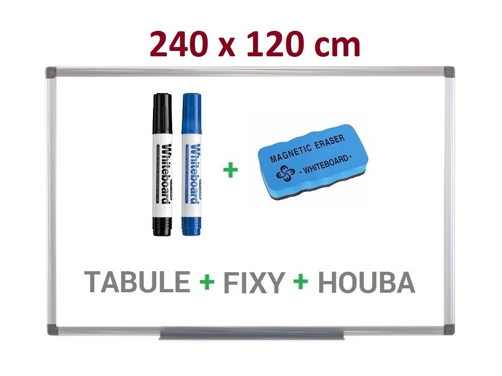 Magnetická bílá tabule Supraviz 240x120