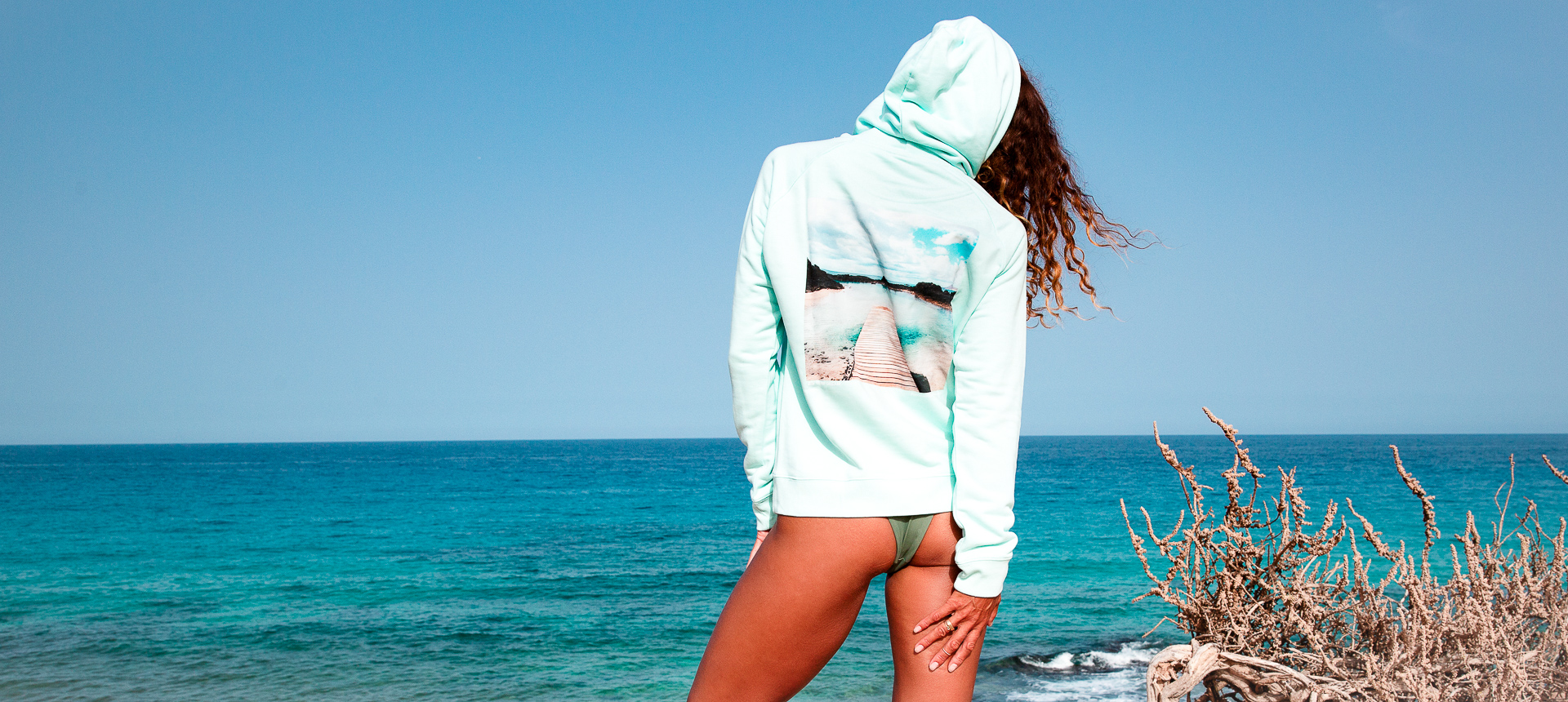Surf  BIO hoodie Lobos Fuerteventura