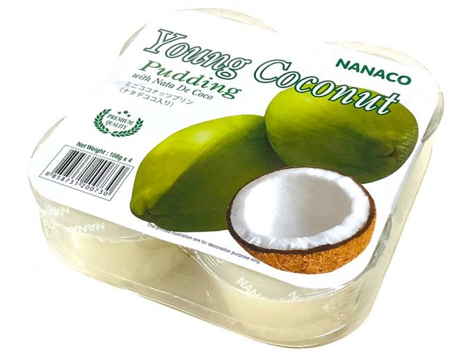 kokosový pudink