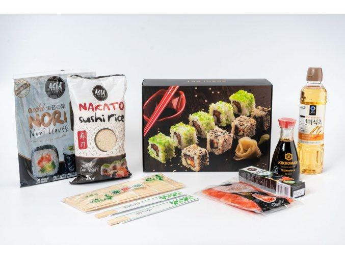 startovací set na přípravu sushi v dárkovém balení