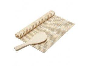 bambusova rolovaci podlozka na sushi a lzice