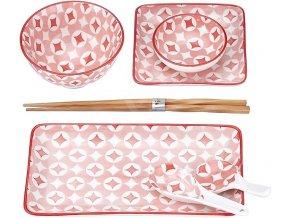 7 dílná sada na sushi růžová2