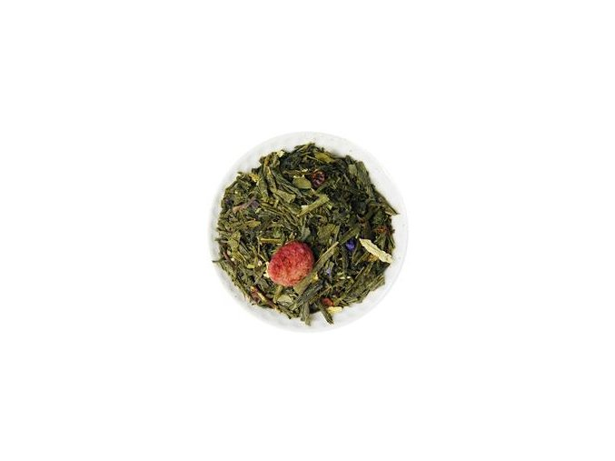 malinové osvěžení zelený čaj