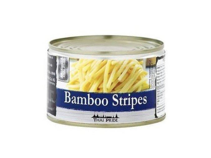 bambus prúžky v konzerve