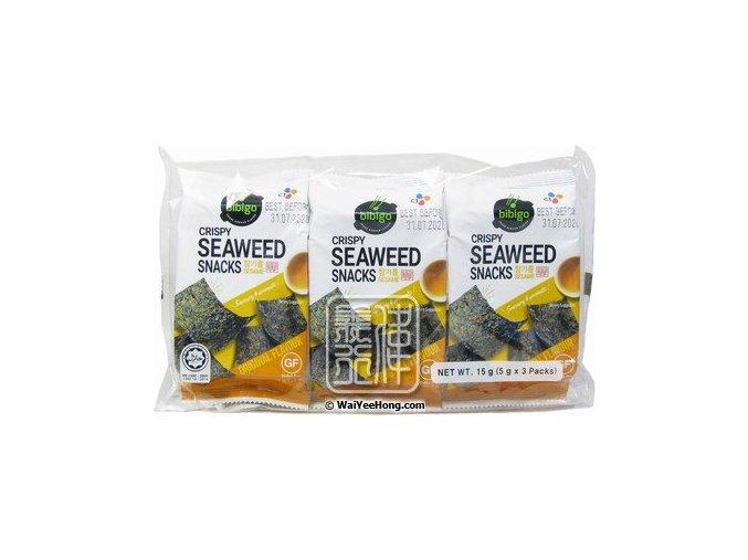 Riasy ochutené sa sezamovým olejom BIBIGO 3x5g