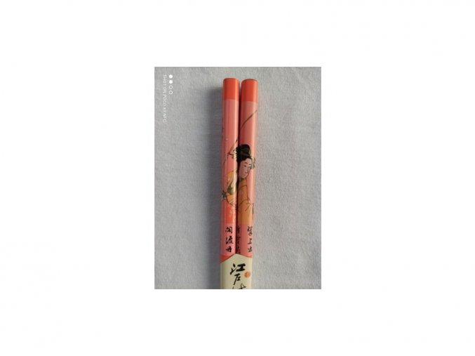 Paličky japonské Geiša oranžové 1 pár