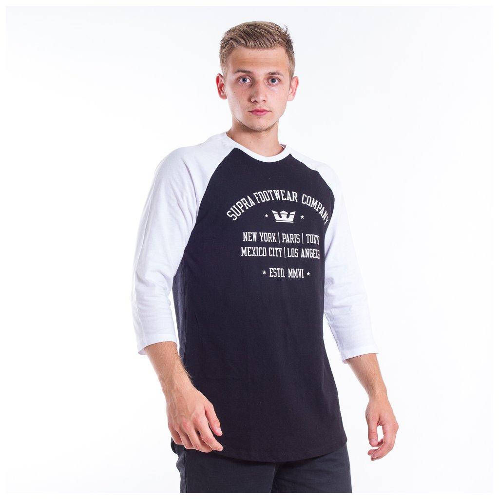 Pánske tričko Supra Contender Black White