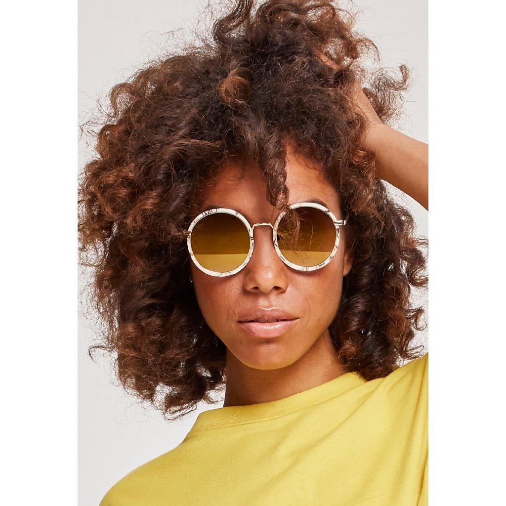 Unisex slnečné okuliare MSTRDS Sunglasses January creme