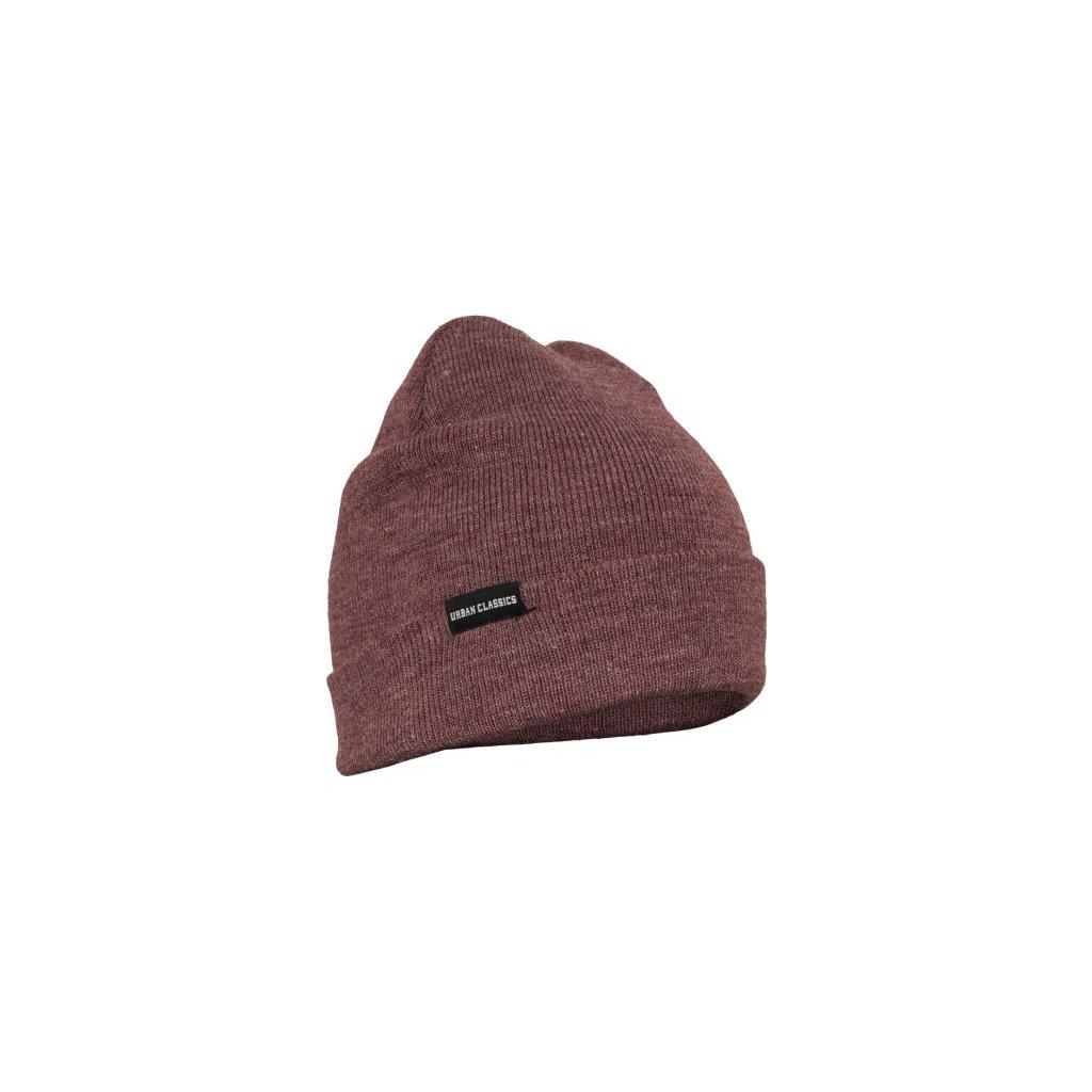 urban classics basic flap beanie burgundy melange 30560.thumb 600x600
