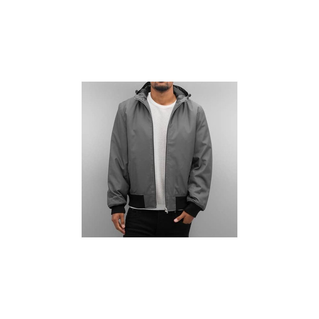 dangerous dngrs hooded bomber jacket grey 33568
