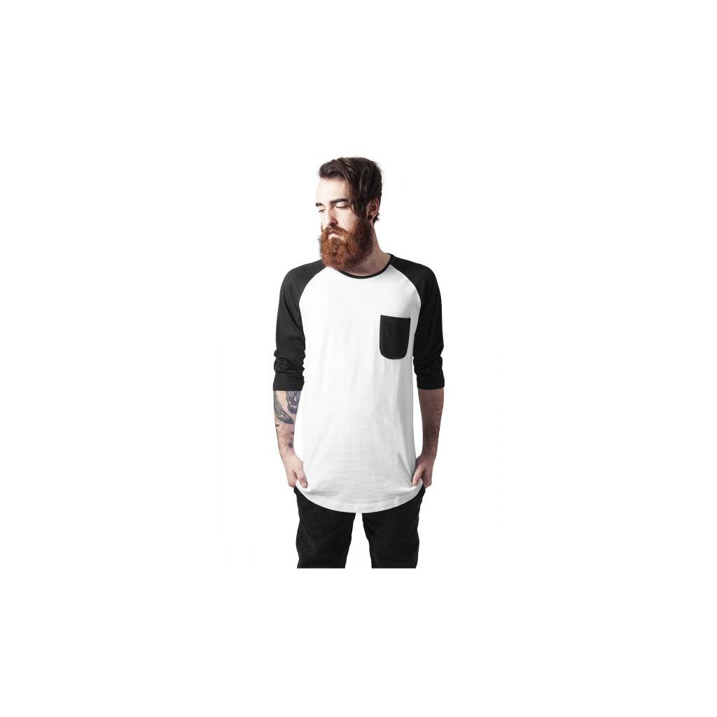urban classics long raglan 34 sleeve pocket tee whtblk 28841.thumb 600x600