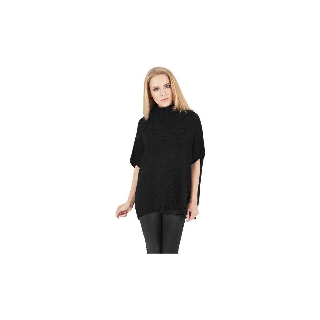 urban classics ladies knitted poncho black 28606.thumb 600x600