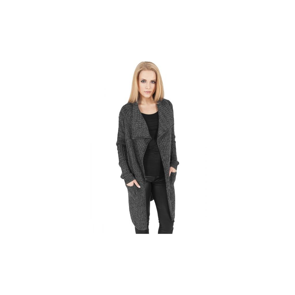 urban classics ladies knitted long cape charcoal 28610.thumb 600x600