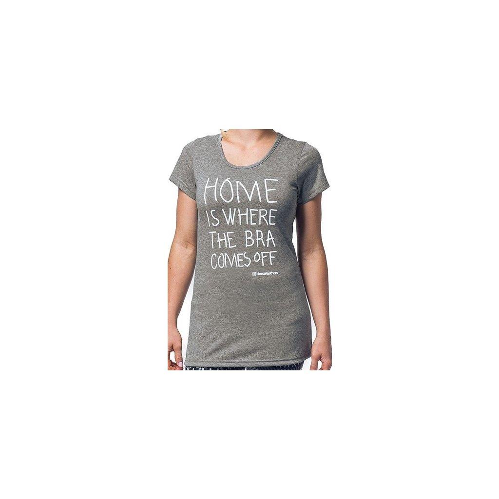 Tričko Horsefeathers Home heather gray (Veľkosť S)