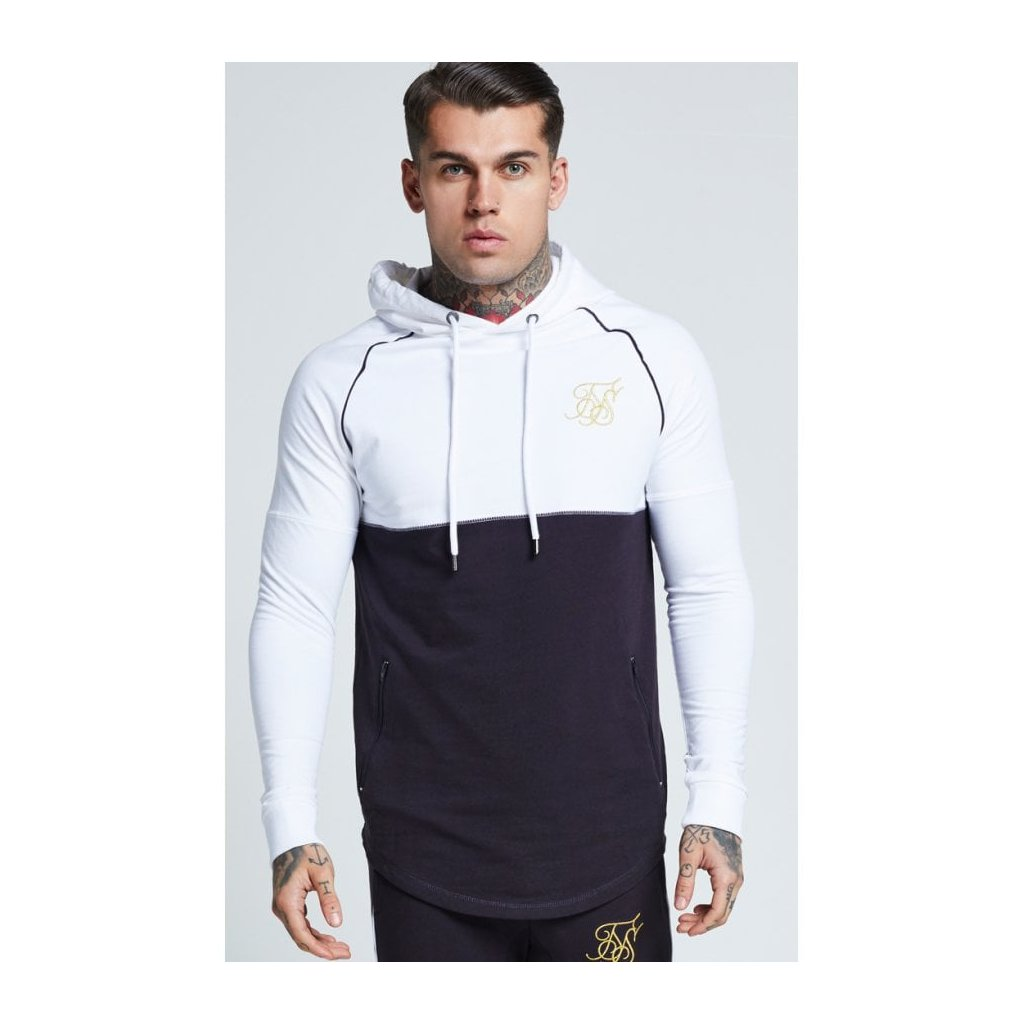 siksilk zonal overhead track top white navy p14141 72898 image