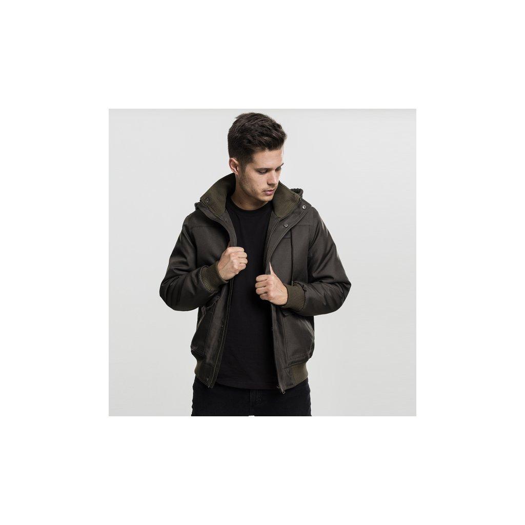 urban classics heavy hooded jacket darkolive 47827