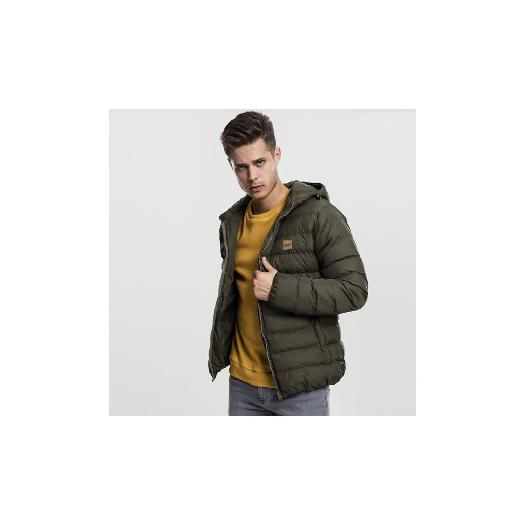 urban classics basic bubble jacket darkoliveblackdarkolive 47861