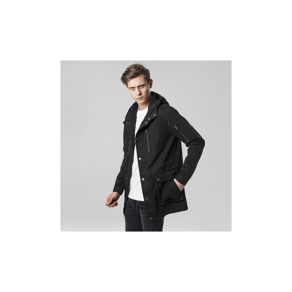 urban classics cotton parka black 44652