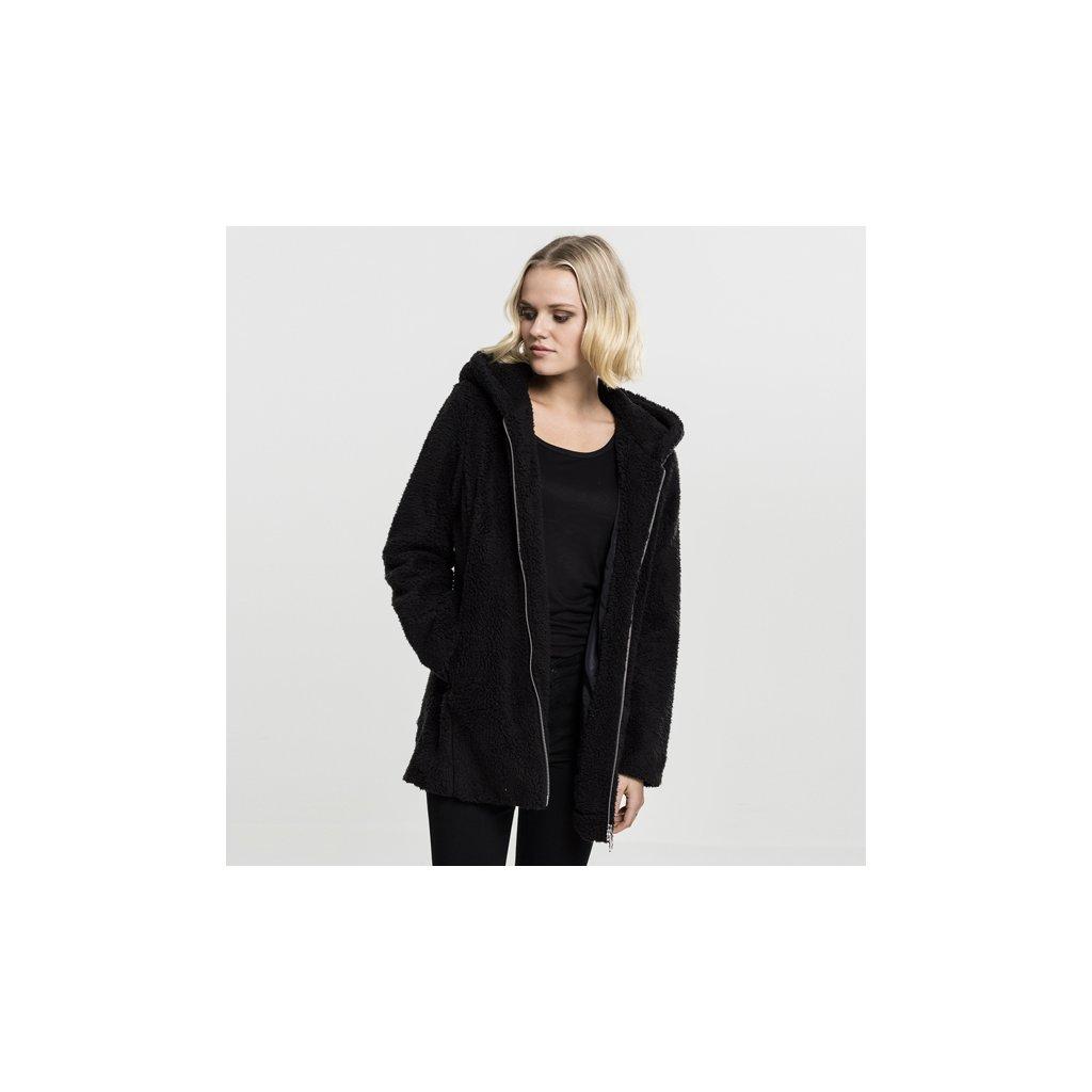 urban classics ladies sherpa jacket black 47205
