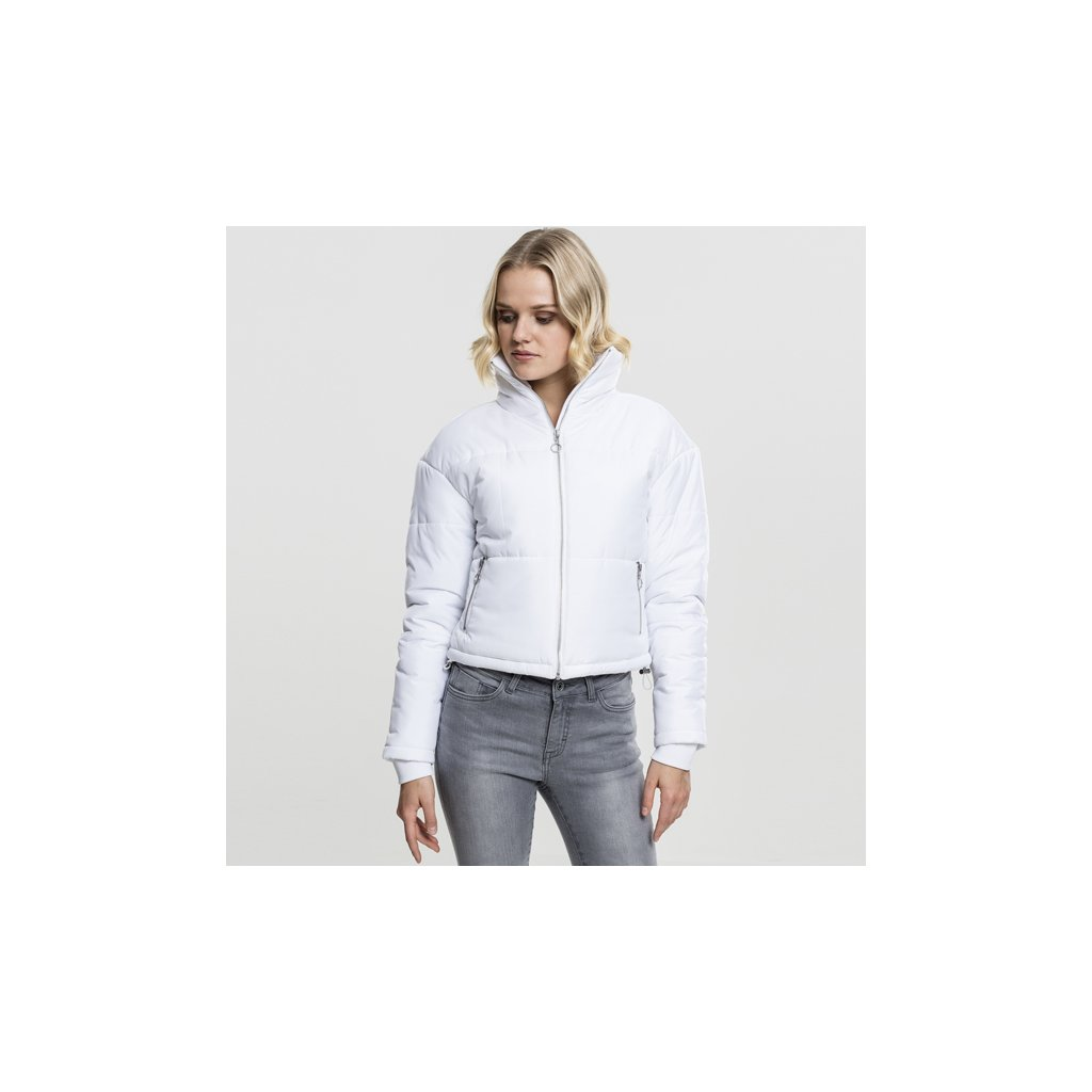 urban classics ladies oversized high neck jacket white 47212