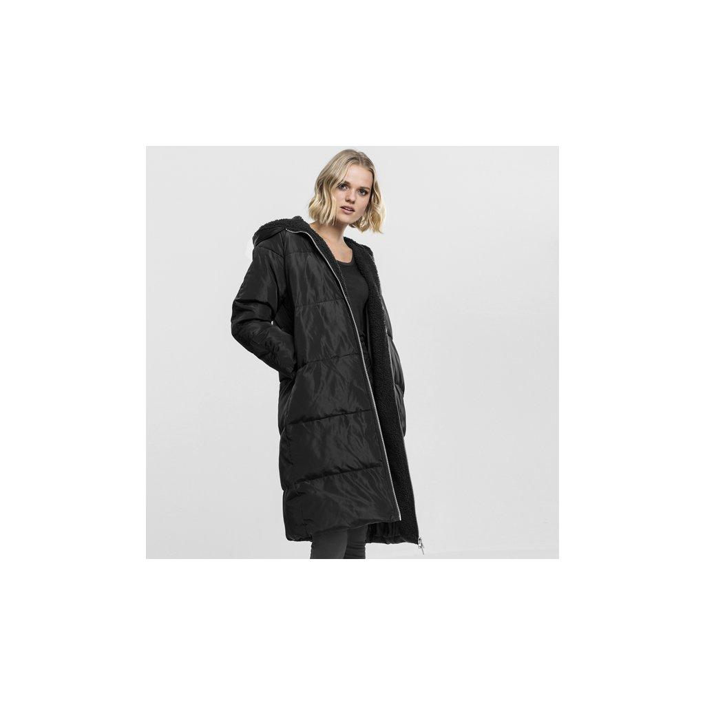 urban classics ladies oversized hooded puffer coat blackblack 47225