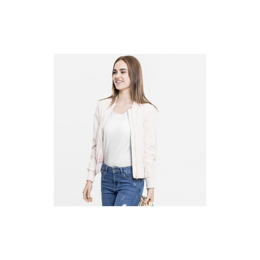 urban classics ladies light bomber jacket light pink 32964